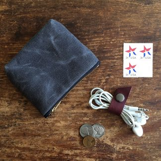 Jenneng Mini Waxed Canvas Pouch Grey