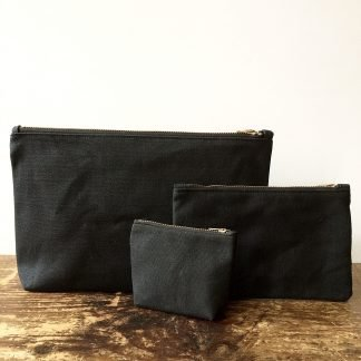 Jenneng Waxed Canvas Pouch Set Black