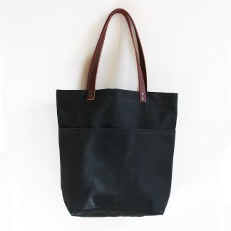 Jenneng Everyday Waxed Canvas Tote Black