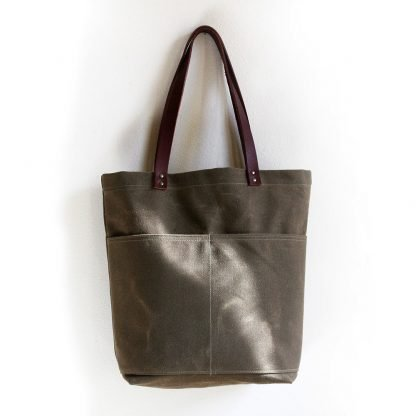 Jenneng Everyday Waxed Canvas Tote Brown